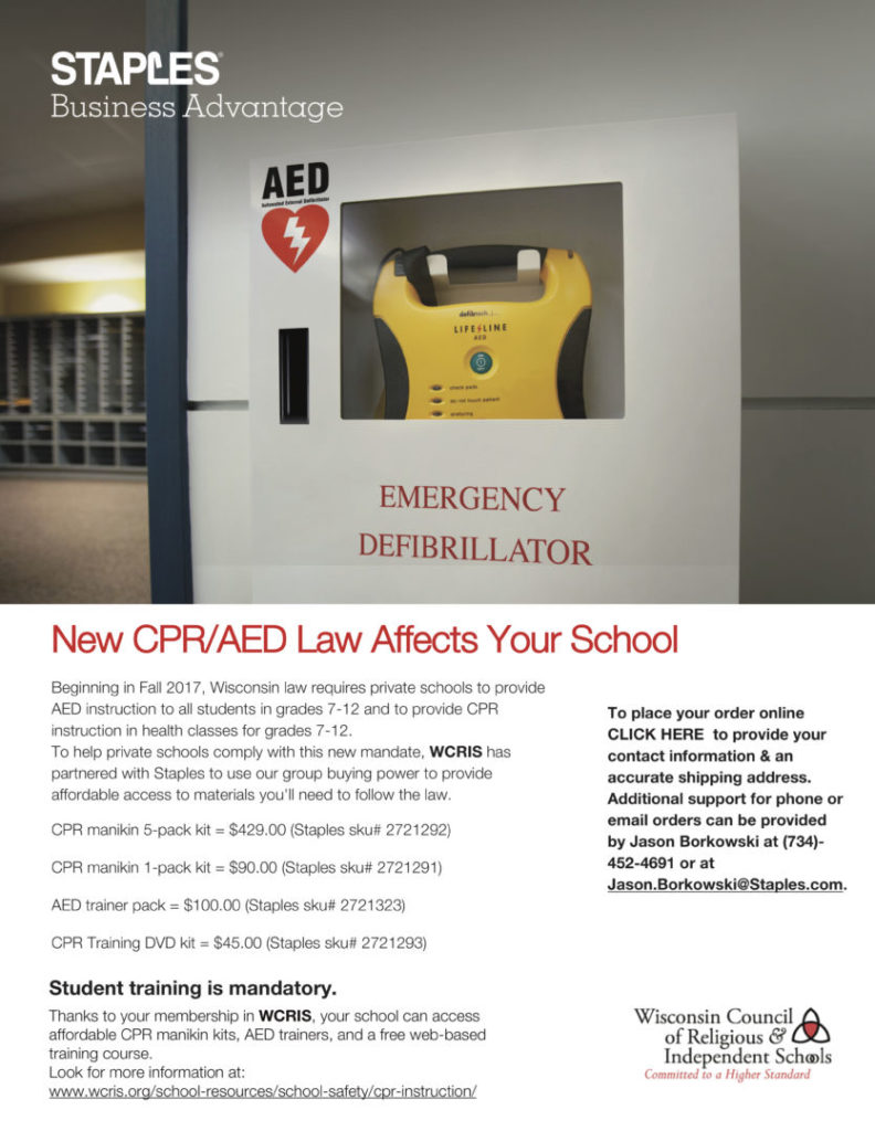 New CPR-AED law WCRIS-STAPLES May 2017